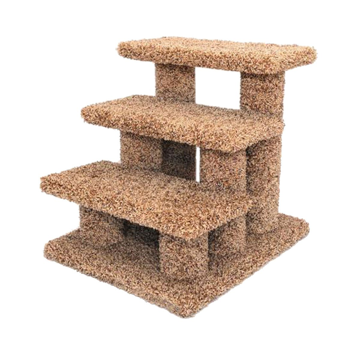 New Cat Condos Premier Post Stairs, Brown