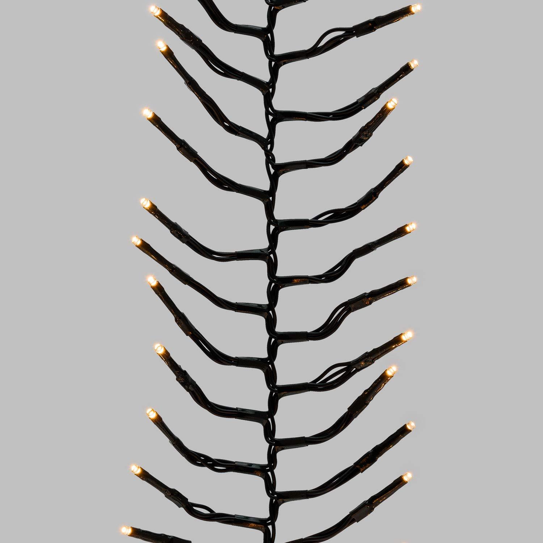 Cluster-Lichterkette 4,5 m 450 Mini LEDs warmweiß traditionell