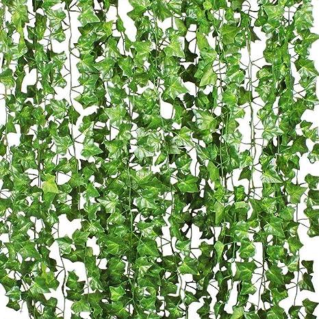 Home Decor 12 Pack 84 Ft Artificial Ivy Garland Fake Ivy Vine Plant for Wedding Garland Fak Home, Furniture & DIY