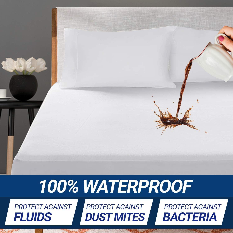 Supremo Craft Queen Mattress Protector - 100% Waterproof Mattress Pad - Breathable Ultrasoft Noiseless, Deep Pocket, Premium Fitted, Vinyl Free - Mattress Cover