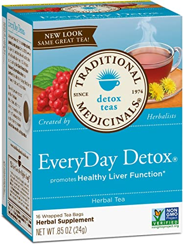 the Traditional Medicinals Organic EveryDay Detox Tea