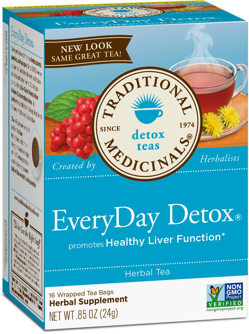 Traditional Medicinals Organic EveryDay Detox Tea, 16 Tea Bags (Pack of 6)