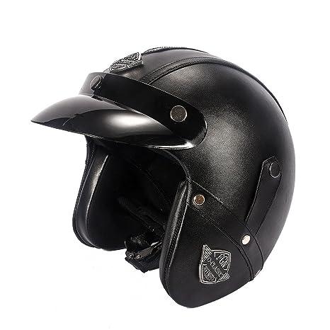 KKmoon Casco Moto Demi Jet Anti-viento 3/4 Helmet Scooter Urbano Retro Motocicleta