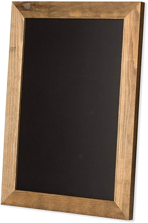 Rustic Wooden Magnetic Kitchen Chalkboard Sign 12x16 Inch Brown Framed Wall Hanging Chalk Board For Farmhouse Decor Wedding Restaurant Menu Home Home Kitchen