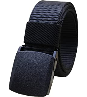 WIN Mens Canvas Belts Military Unisex Webbing Casual Automatic Buckle Army Waist Strap
