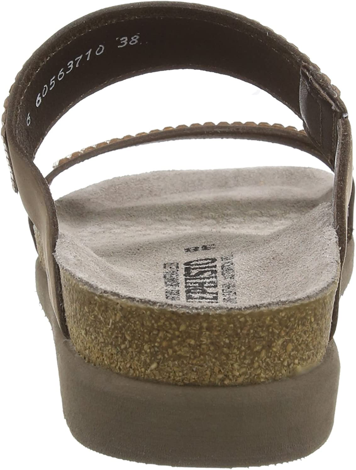 Mephisto Havila Sandalbuck 6051 Dark Brown, Sandali Aperti Donna Marrone Scuro