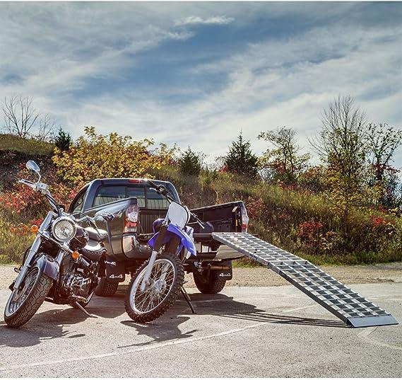 Rage Powersports 108 Big Boy 1-Piece Design Single Runner Folding Aluminum Motorcycle Ramp