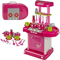 Webby Kids' Luxury Battery Operated Kitchen Super Set (Multi-Color)