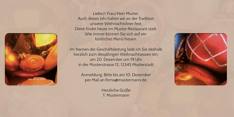 Kartenparadies Einladungskarte zu Weihnachten Einladung Christbaumkugeln, hochwertige hochwertige hochwertige Weihnachtseinladung zum Selbstgestalten (Format  215x105 mm) Farbe  OckerBraun B01N2G40TL | Hohe Qualität  | Export  | Verrückter Preis  8df048