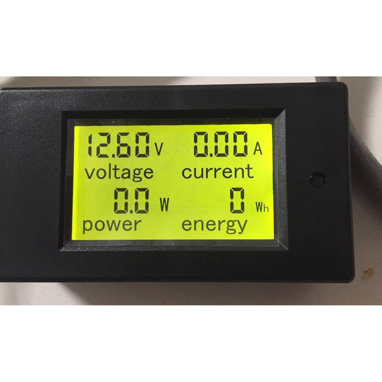 Spartan Power Battery Monitor And Multimeter 0 100a 65v Combo Amperemeter Voltmeter Digital Frame 100v 10a 100vdc Lcd Display Comes With Current Shunt Automotive