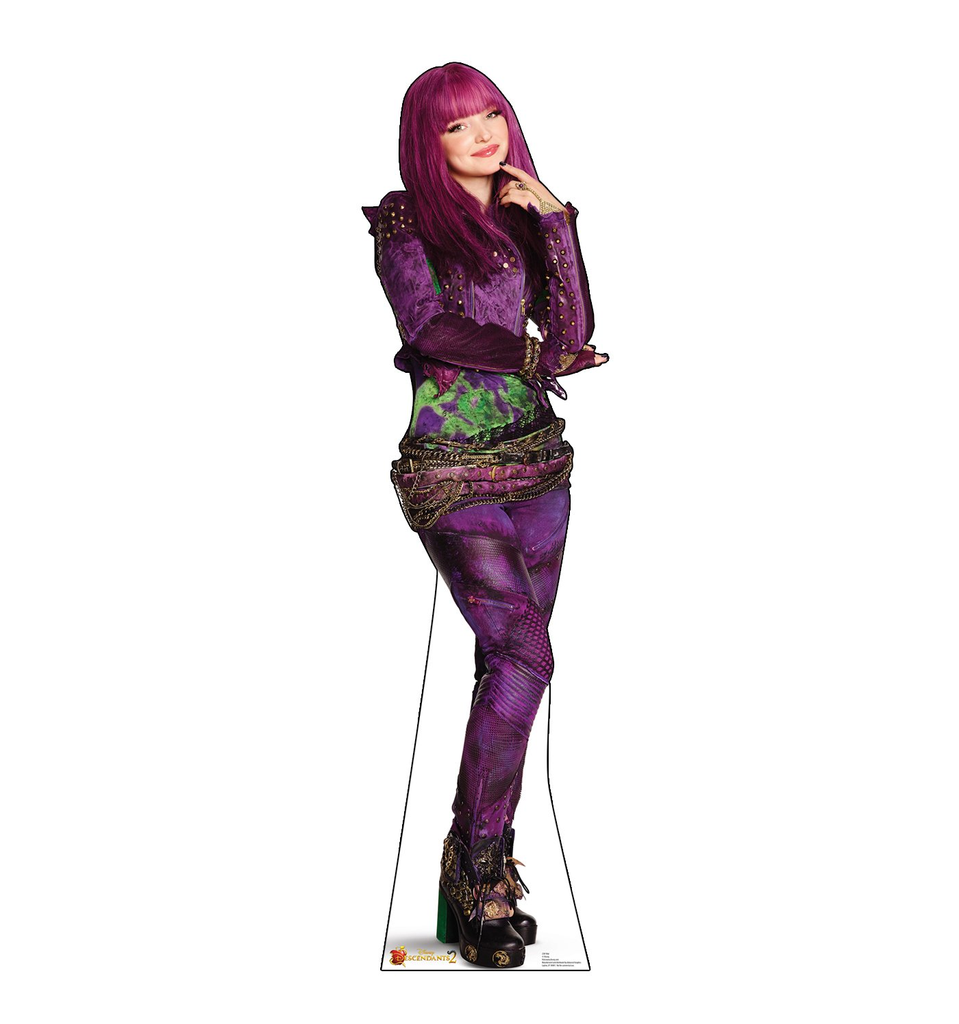 Advanced Graphics Mal Life Size Cardboard Cutout Standup - Disney Descendants 2