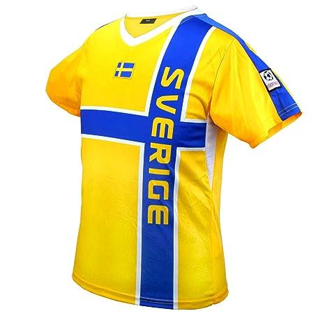 Camisetas de fútbol de Suecia Campeonato de mundo de equipo azul amarillo UNISEX (XS)