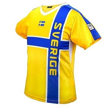 Camisetas de fútbol de Suecia Campeonato de mundo de equipo azul amarillo UNISEX (XS): Amazon.es: Deportes y aire libre