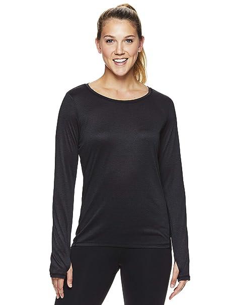 67804607e1ee6 HEAD Women's Long Sleeve Workout T-Shirt - Performance Activewear Running &  Gym Top -