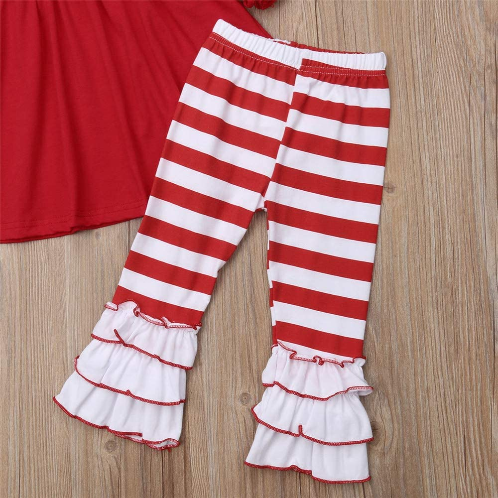 Christmas Outfit Toddler Baby Girls Long Sleeve Snowman Tops Dress+Snowflake Leggings Pants Scarf Clothes Set
