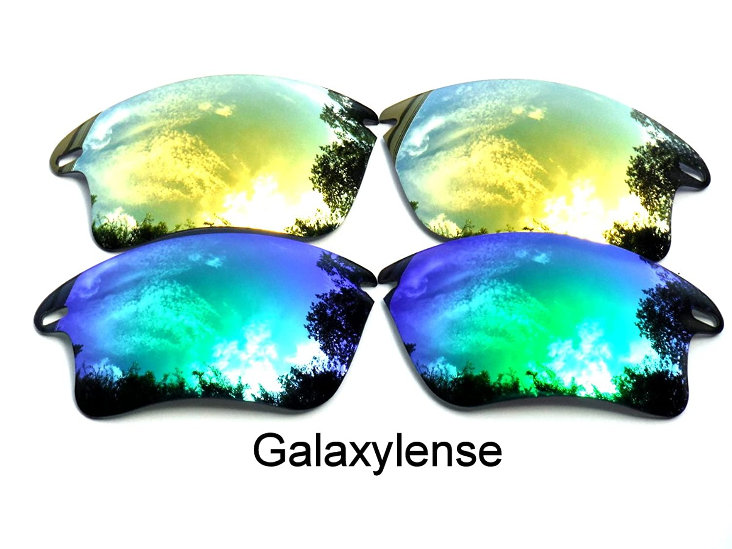 e61a378ffc4 Galaxy Replacement Lenses for Oakley Fast Jacket XL Green Gold Color  Polarized 2 Pairs