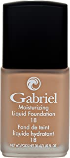 product image for Gabriel Cosmetics, Moisturizing Liquid Foundation, Natural, Paraben Free, Vegan, Gluten-free, Cruelty-free, Non GMO, Infused with Vitamins A & E, Full coverage, (Tawny)