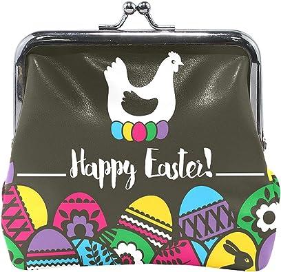 Coin Purse Easter Eggs Rabbit Wallet Buckle Clutch Handbag For Women Girls Gift