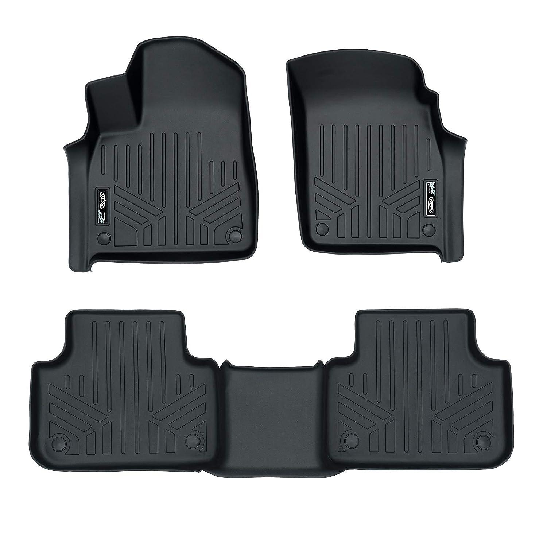 Nylon Carpet Coverking Custom Fit Front Floor Mats for Select Honda Civic Models Black