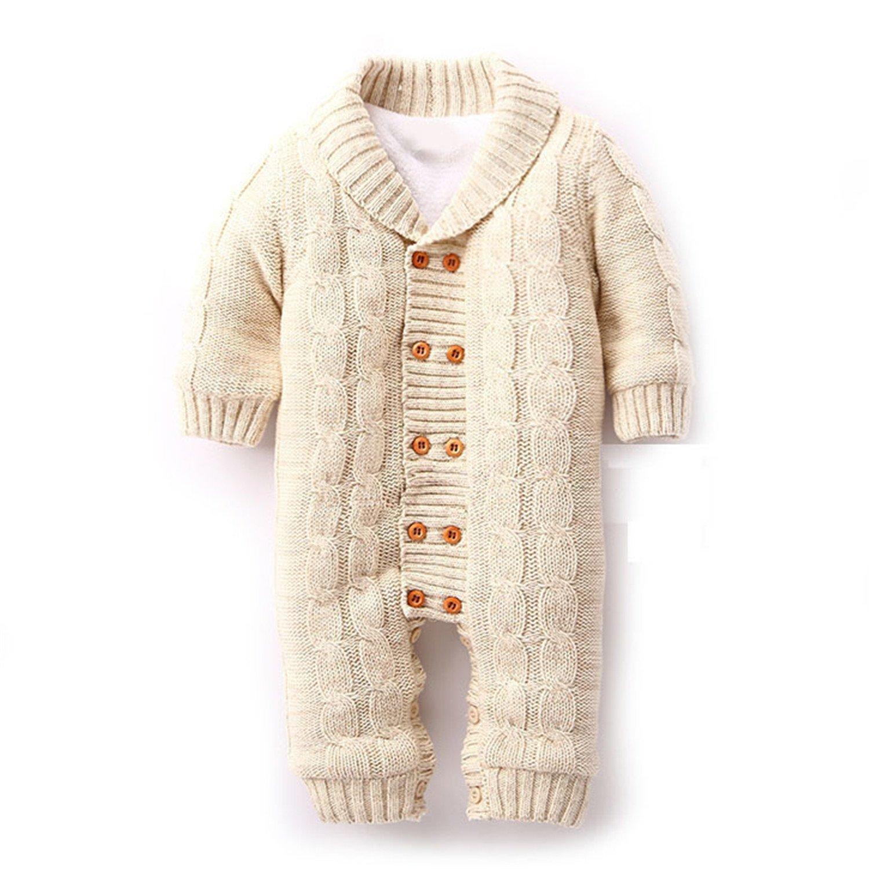 Merciy Maglione bambino tutine neonato Maglioni Cardigan bimba Tutina pagliaccetto Giacca Natale Maglione Cotone e velluto