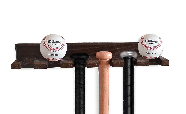 Eschenholz Versteckte Schrauben TESLYAR Baseballschl/äger-Wandhalterung f/ür horizontale Anzeige handgefertigt