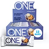 ONE Protein Bars, Blueberry Cobbler, Gluten Free Protein Bars with 20g Protein and only 1g Sugar, Guilt-Free Snacking for Hig