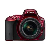 Nikon D5500 Digital SLR Camera - Red (24.2 MP, AF-P 18-55VR Lens Kit) 3-Inch LCD Screen