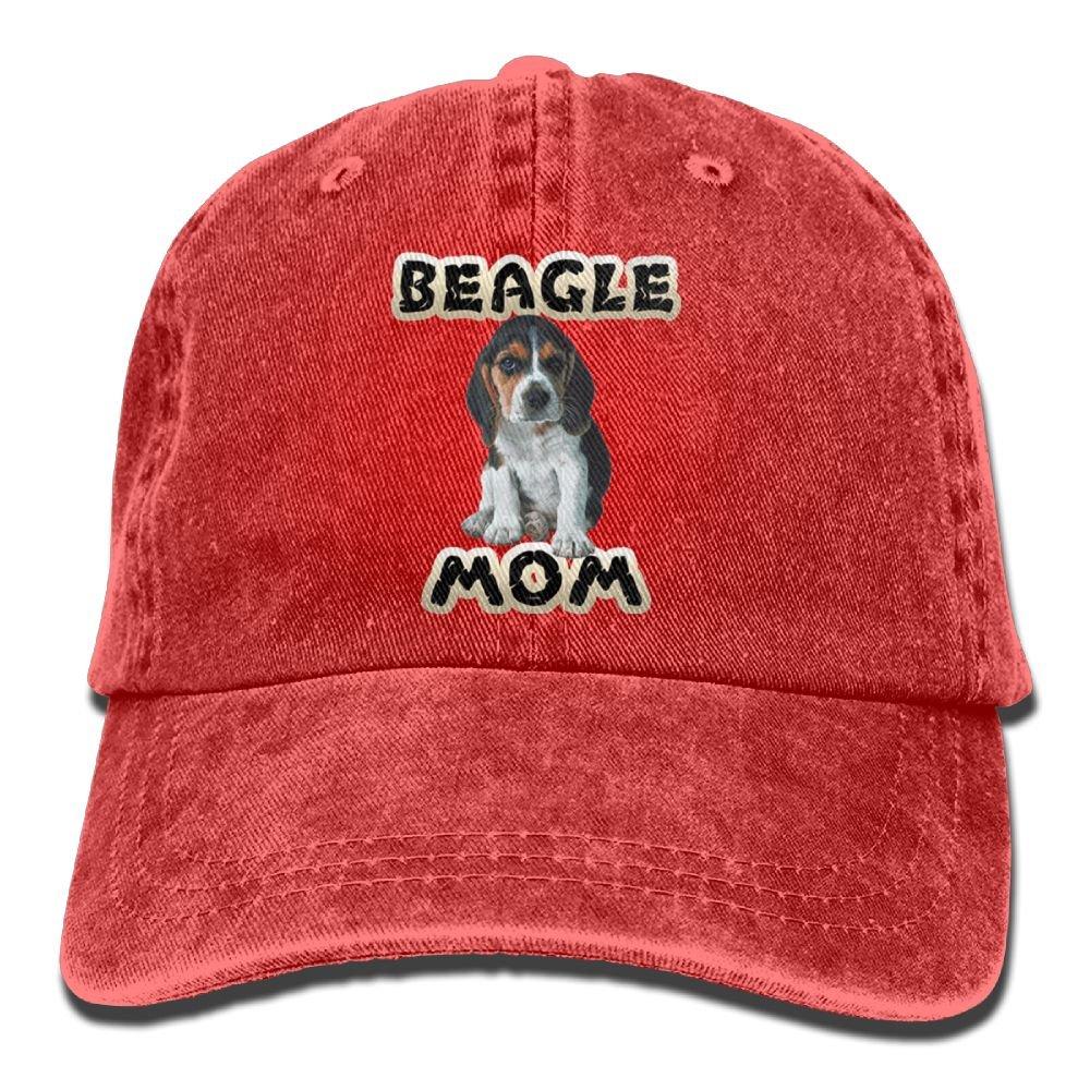 Arsmt Beagle Mom Denim Hat Adjustable Women Vintage Baseball Hat