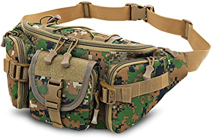 Camouflage Waist Fanny Pack Water Repellent Hiking Bags Camping Gear