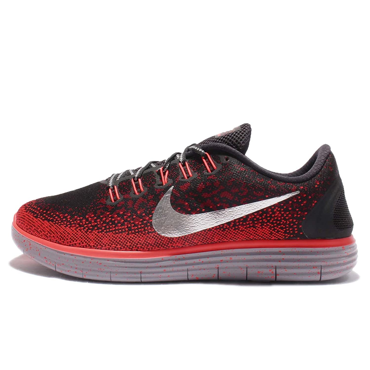 Nike Men's Free RN Distance Shield Running Shoe B01M6V40SY 12.5 D(M) US|Black, Metallic Silver, Team Red