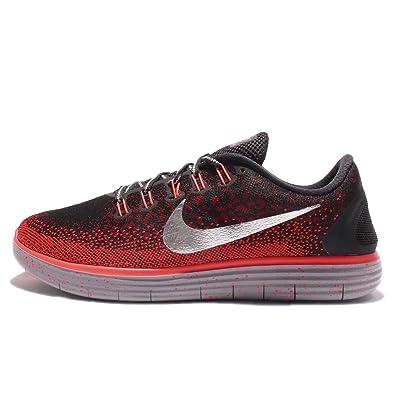 Nike Mens Free RN Distance Shield, BLACK/METALLIC SILVER-TEAM RED-BRIGHT
