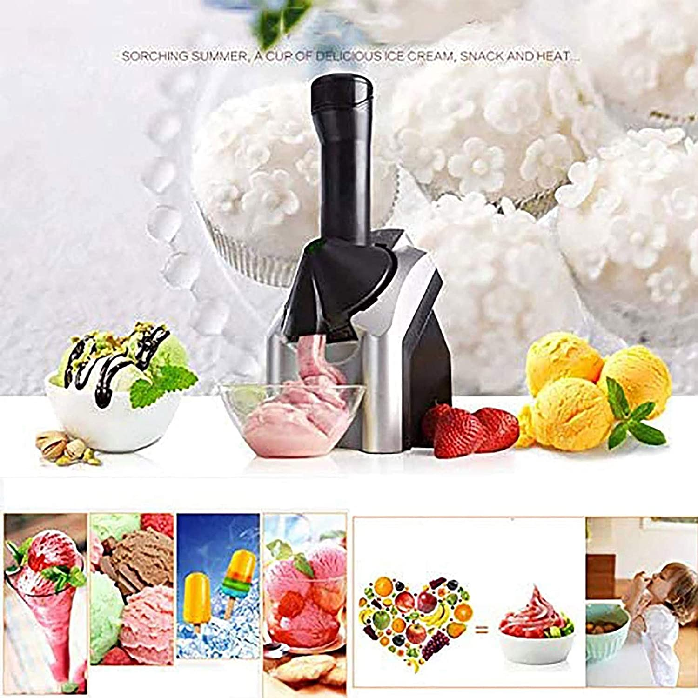 Automatic Ice Cream Maker,Home Ice Cream Maker /Machine/Make Delicious Ice Cream Sorbets And Frozen Yogurt Make/Original Healthy Dessert Fruit Soft Serve Ice Cream Machine for Kids for Dessert Make