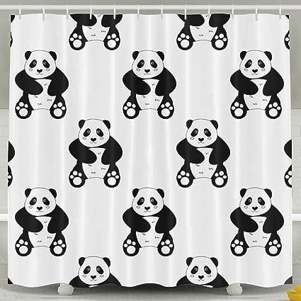 MI Too Cute Head Chinese Bear Panda Shower Curtain 60x72 Inch