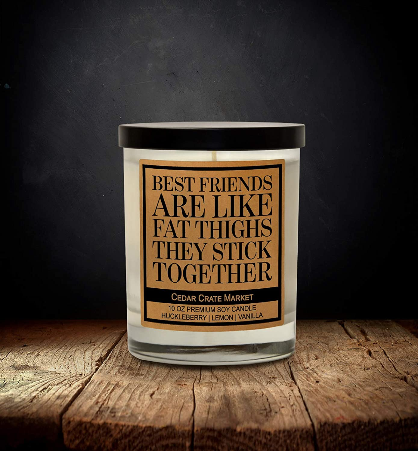 Thick Thighs Besties Personalized Candle Holder With Heart valentine gift ideas personalized gifts