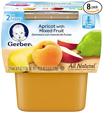 Gerber 2nd Foods Fruits - Apricot Mixed Fruit - 4 oz - 2 ct - 8
