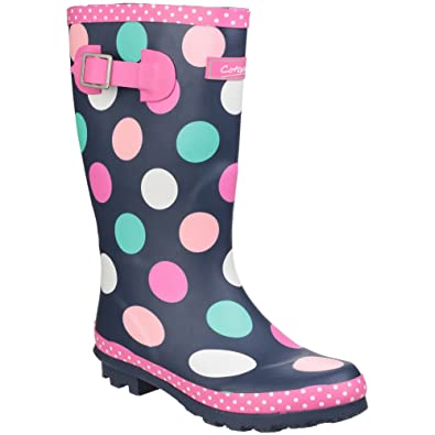 Cotswold Dotty Girls Wellies Multi - Multi - UK Sizes 1-13  Amazon ... a256d9b52300
