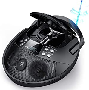CD Player, CD Player Boombox Portable, VENLOIC Portable CD Player Boombox with USB, Radios CD Players for Home Small