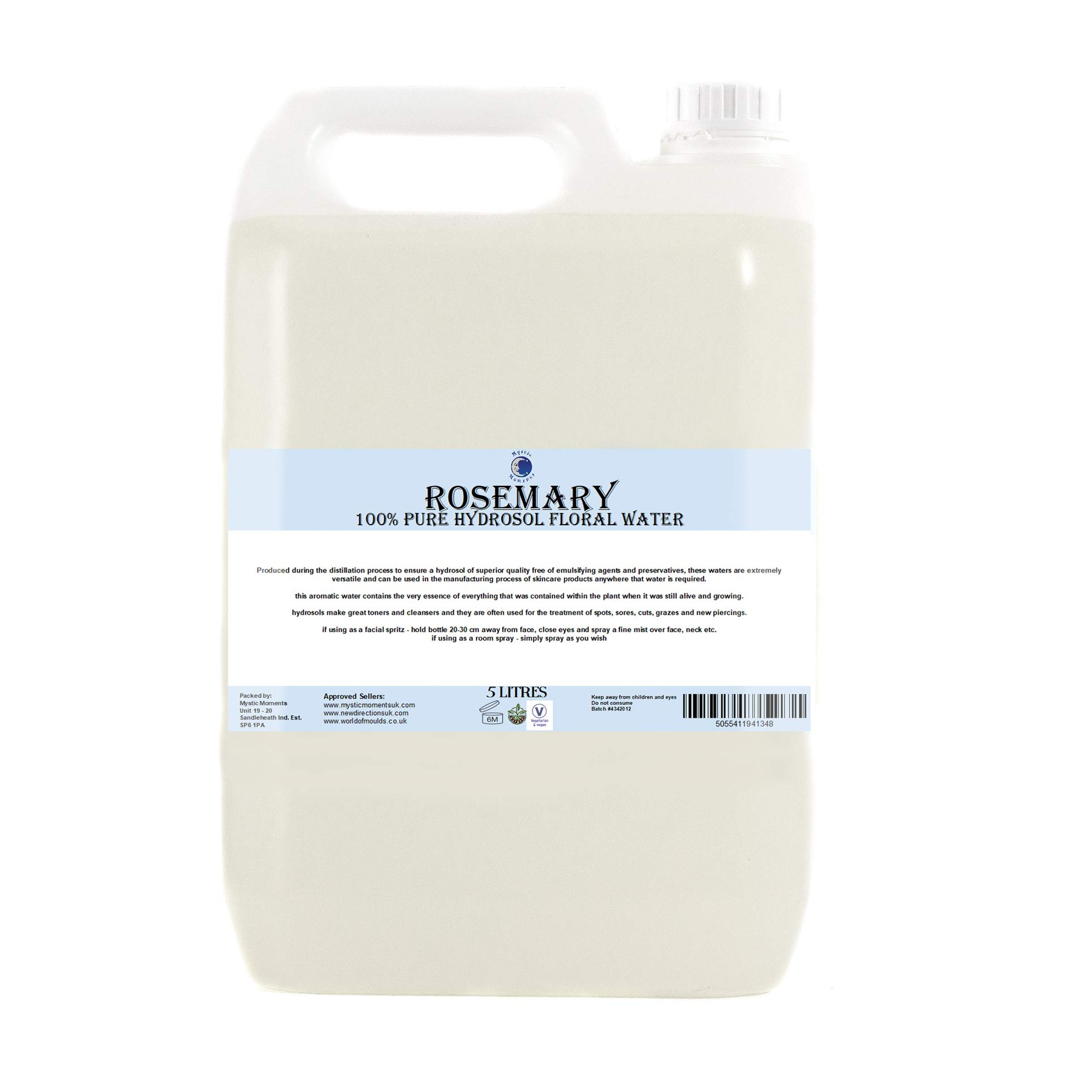Rosemary Hydrosol Floral Water - 5Kg by BiOrigins (Image #1)