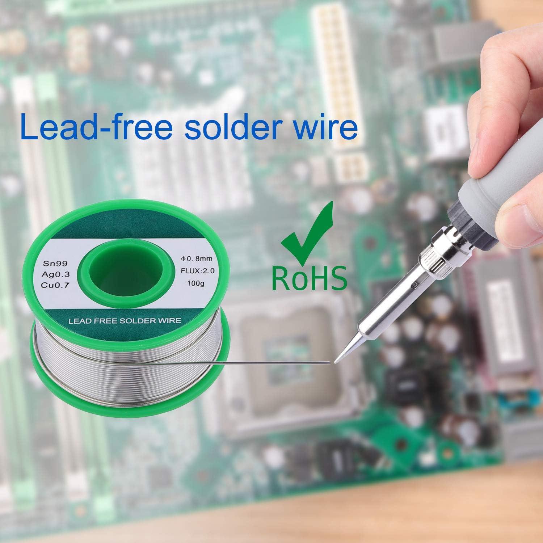 60 W 220 V Soldador Set 22 piezas Soldador Set 60 W Estaci/ón de soldadura digital pantalla LCD Temperatura ajustable