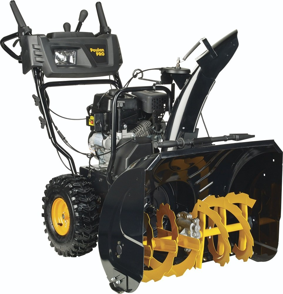 Poulan PRO PR271 - 27-Inch 254cc Two Stage Electric Start with Power Steering Snowthrower - 961920091