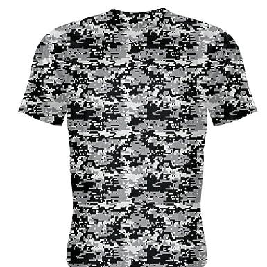 4c6b8981736 Amazon.com: LightningWear Youth Black Digital Camouflage Basketball  Shooting Shirts Youth, Black: Clothing