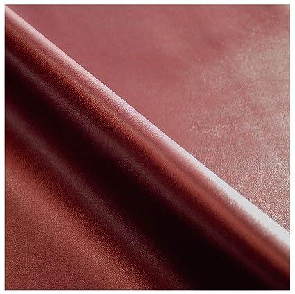 Tejido de piel sintética color burdeos, venta al metro, 140 ...