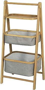 SoBuy Estantería Plegable de Baño con 3 Niveles de Bandejas,Estantería Tipo Escalera,H98 cm,FRG267-N,ES: Amazon.es: Bricolaje y herramientas