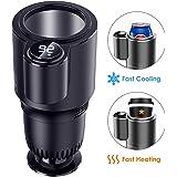 Kwak's Calentador y enfriador inteligente 2 en 1 taza de coche, soporte para bebidas y bebidas, enfriador de agua, café, bebi