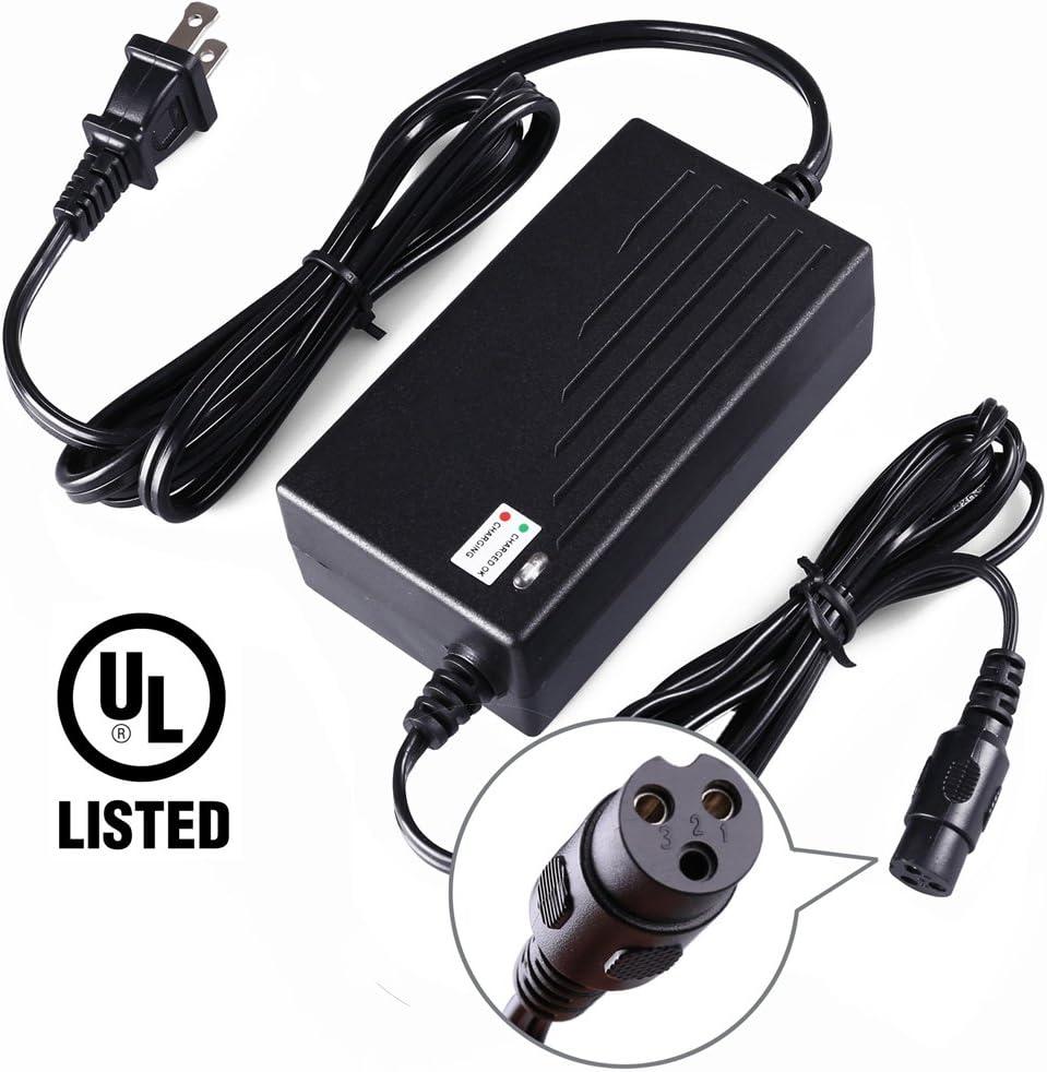 LotFancy 36V 1.5A Battery Charger for Razor Mini Pocket, Boreem Jia 601-S 602-D, Minimoto Maxii ATV, Go Kart, Jeep, Dune Buggy, Motocross XRF500, Freedom 945 959, UL Listed, 8.9FT Cable