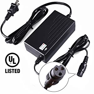 LotFancy 36V 1.5A Scooter Battery Charger for Razor Mini Pocket, Boreem Jia 601-S 602-D, Minimoto Maxii ATV, Go Kart, Jeep, Dune Buggy, Motocross XRF500, Freedom 945 959, UL listed, 8.9FT Cable