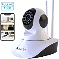 Camara IP WiFi de Interior FLUX'S, Cámara de vigilancia WiFi FHD 1080p, con Vision Nocturna, Detección de Movimiento, Audio Bidireccional, Seguridad para Mascotas y Bebés, Compatible con iOS/Android