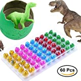 Blu7ive Hatch and Grow Easter Dinosaur Eggs - Novelty Hatching Toy for kids (60 Pack)