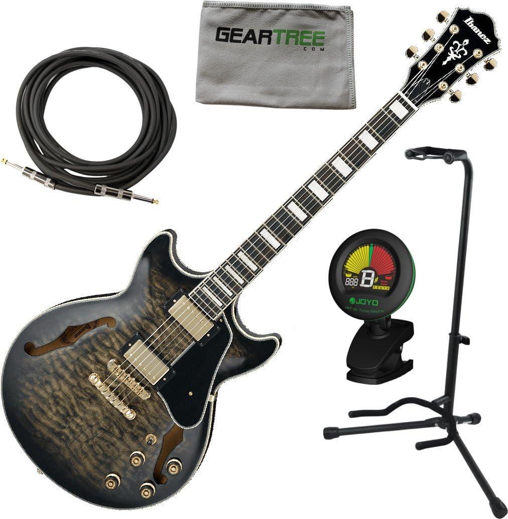 Ibanez am93tks AM Artcore estilo expresionista guitarra eléctrica transparente negro sunburst W/Cable, geartree gamuza, soporte, y sintonizador: Amazon.es: Instrumentos musicales