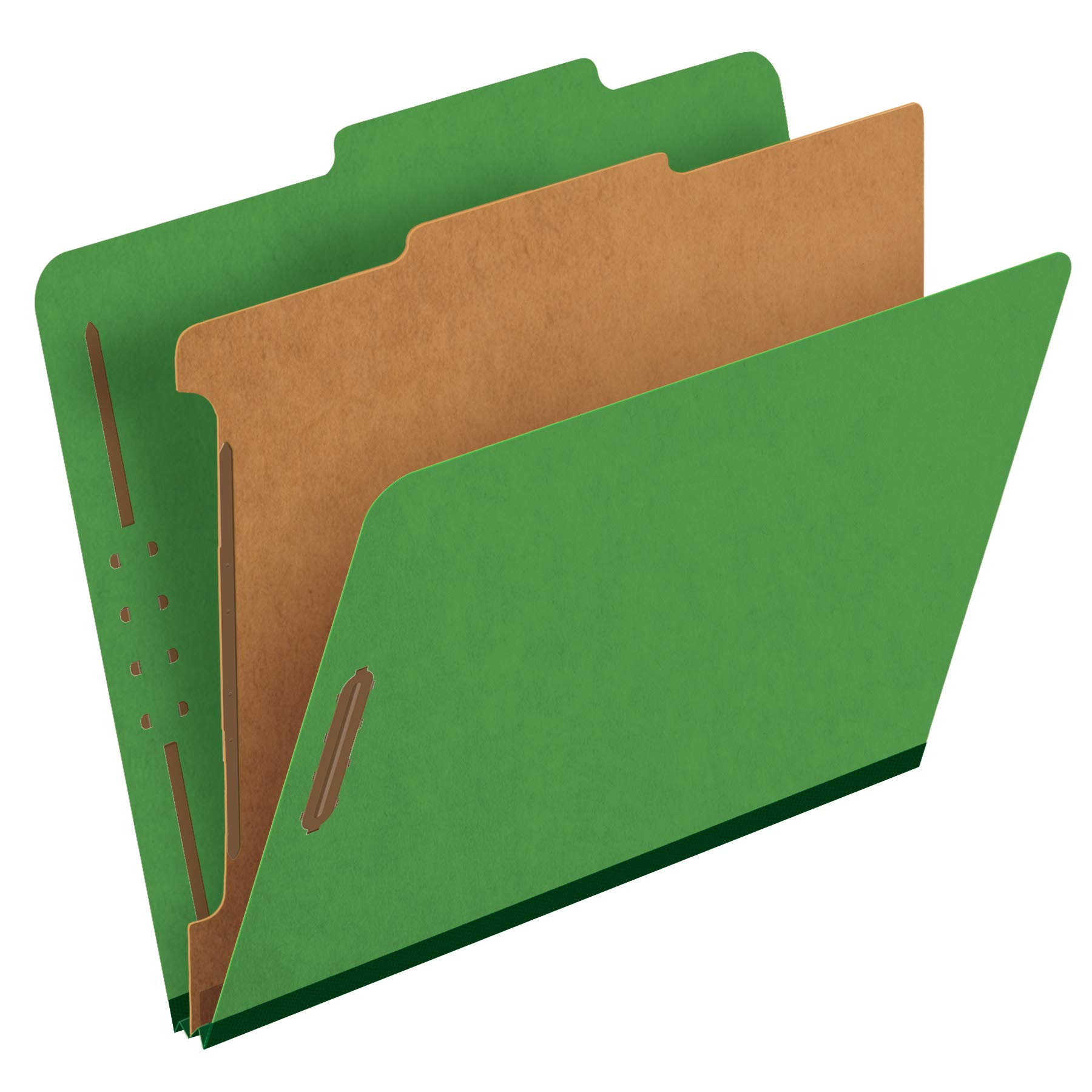 Pendaflex Classification Folders, 1 Divider, 2'' Fasteners, Letter, Dark Green, 10/Box (23733P) by Pendaflex